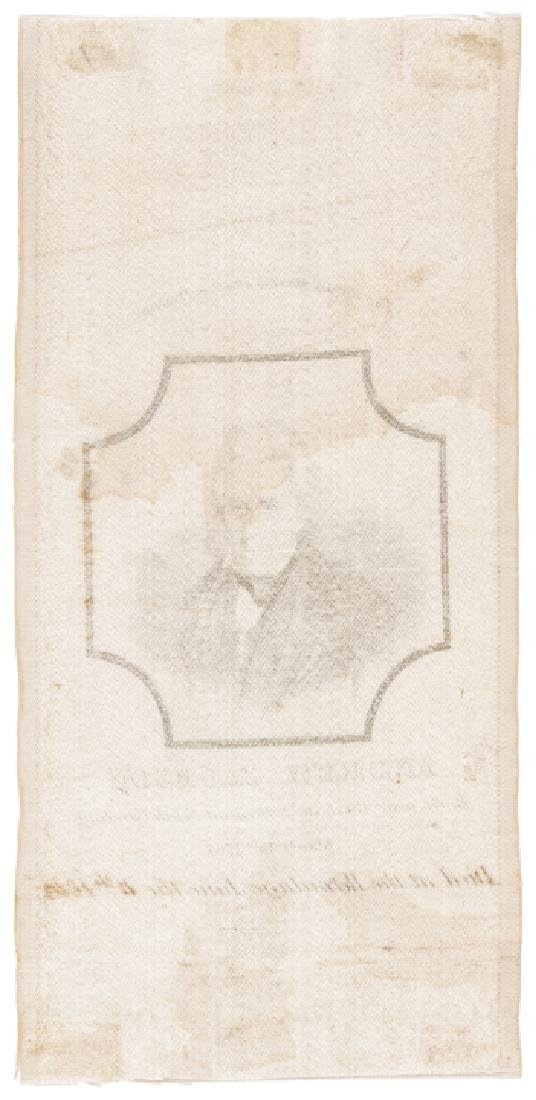 c. 1845 Rare Andrew Jackson Silk Mourning Ribbon - 2