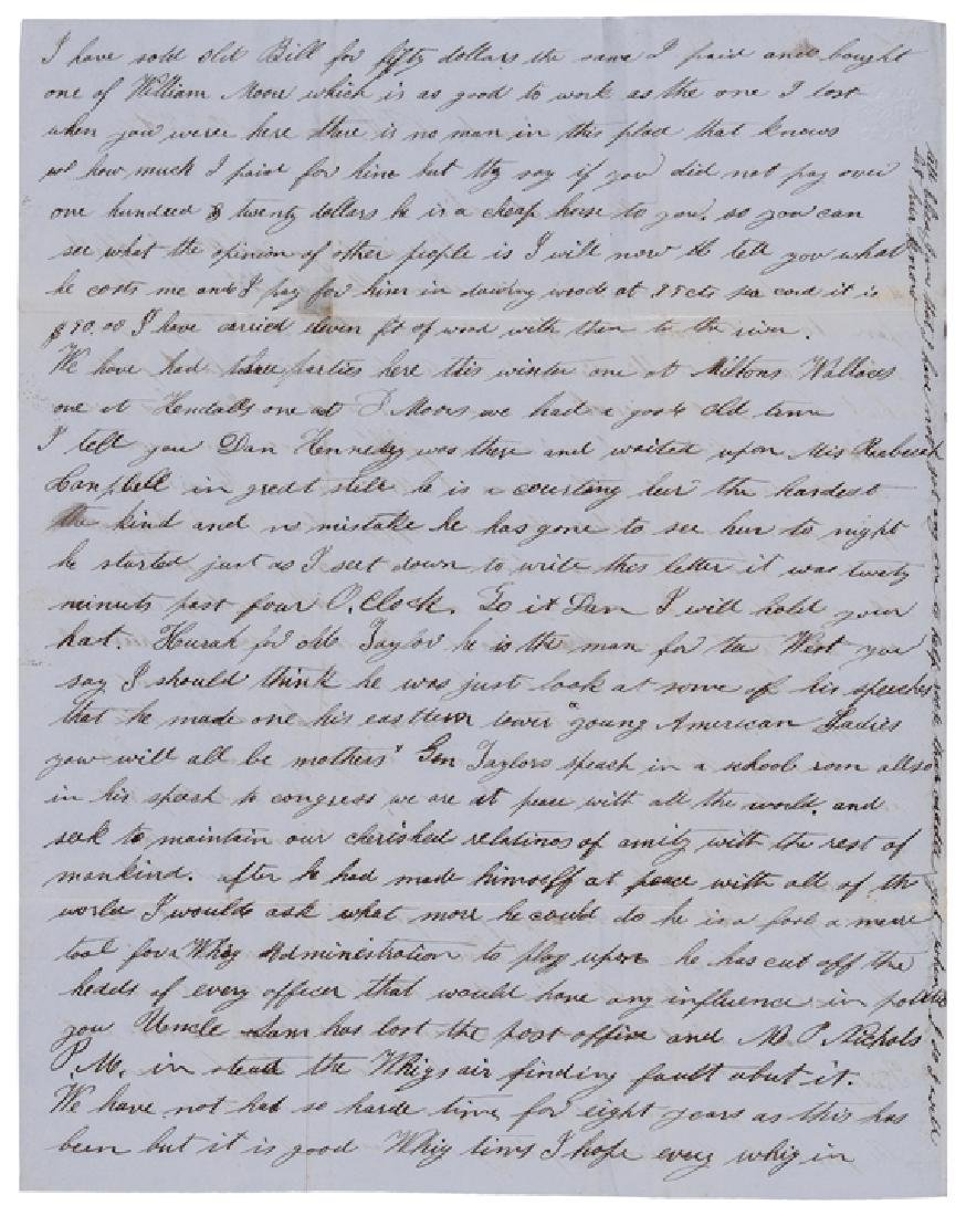 1850 Letter Critical of President Zachary Taylor - 2