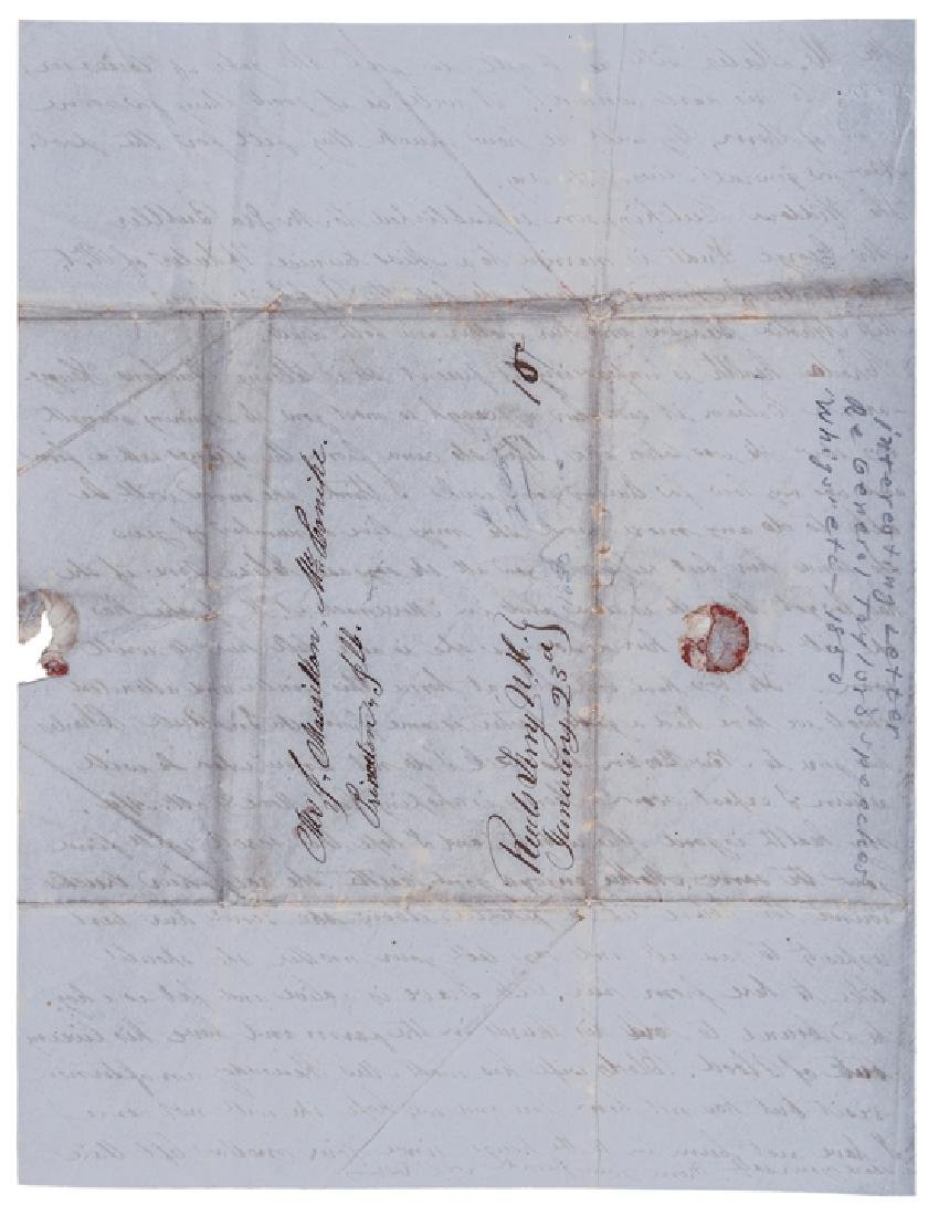 1850 Letter Critical of President Zachary Taylor - 4