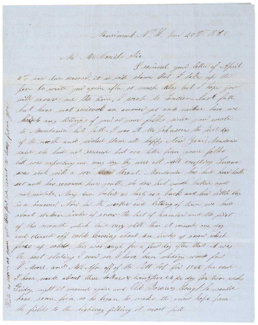1850 Letter Critical of President Zachary Taylor - 6