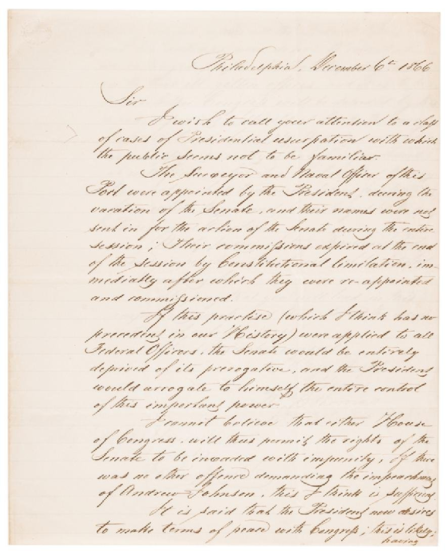 1868 President Andrew Johnson Impeachment 6 Items