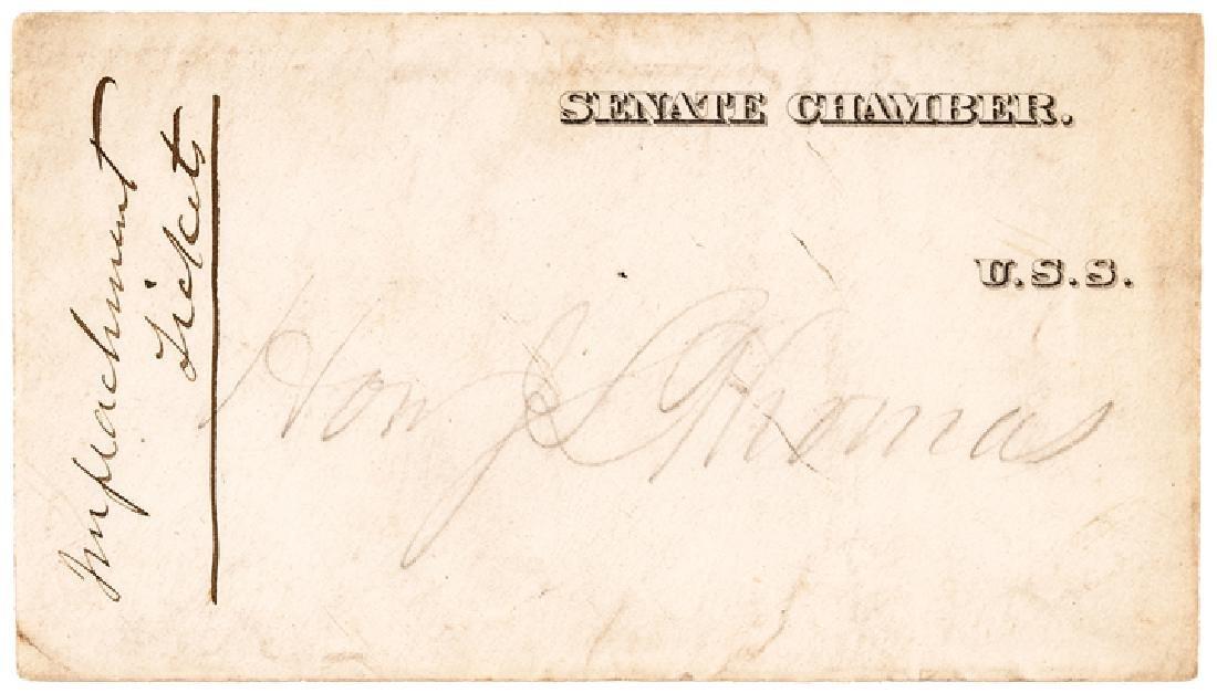 1868 President Andrew Johnson Impeachment 6 Items - 3
