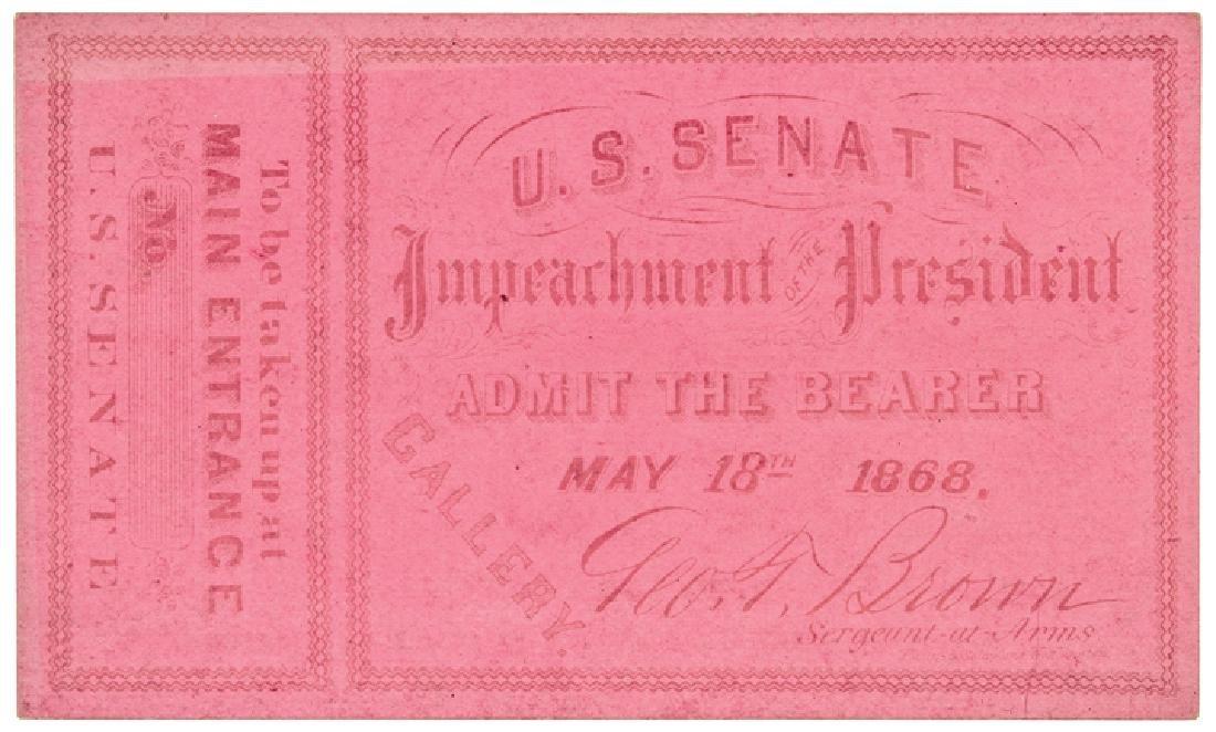 1868 President Andrew Johnson Impeachment 6 Items - 5