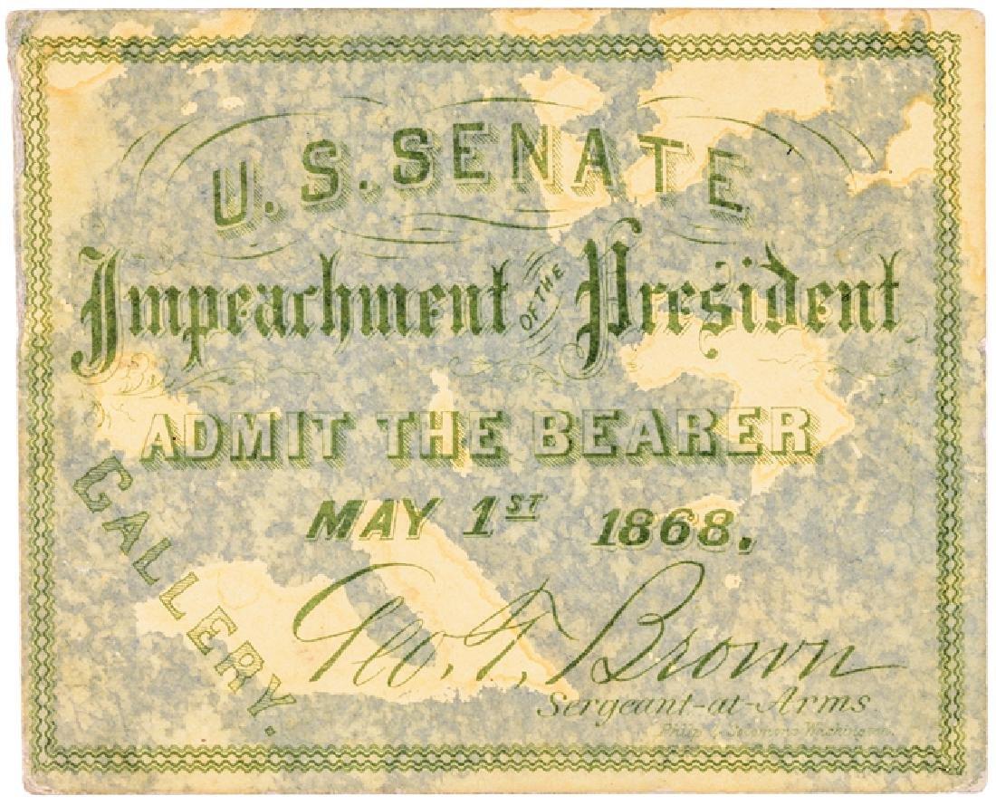1868 President Andrew Johnson Impeachment 6 Items - 7