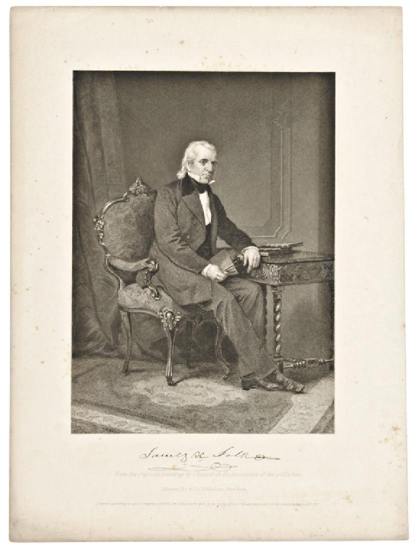 Five (5) Engraved Presidential Prints by Page