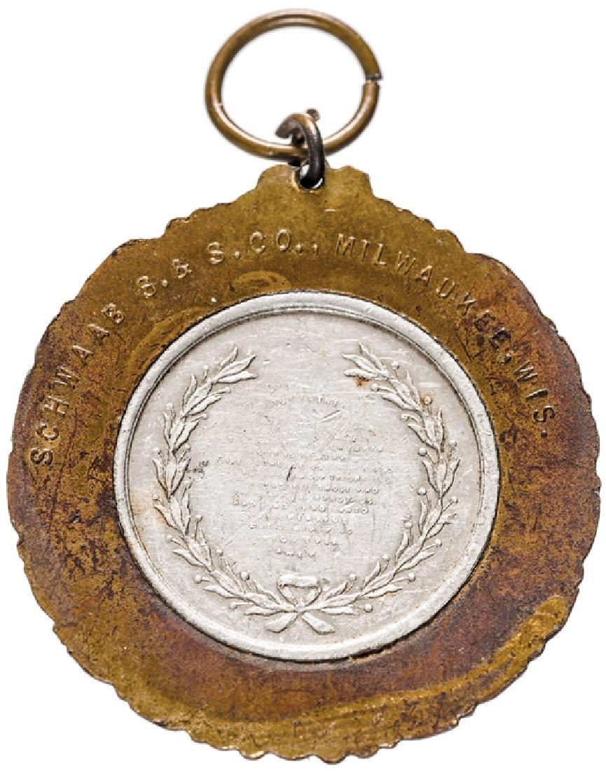 1888 Benjamin Harrison Presidential Campaign Medal - 2