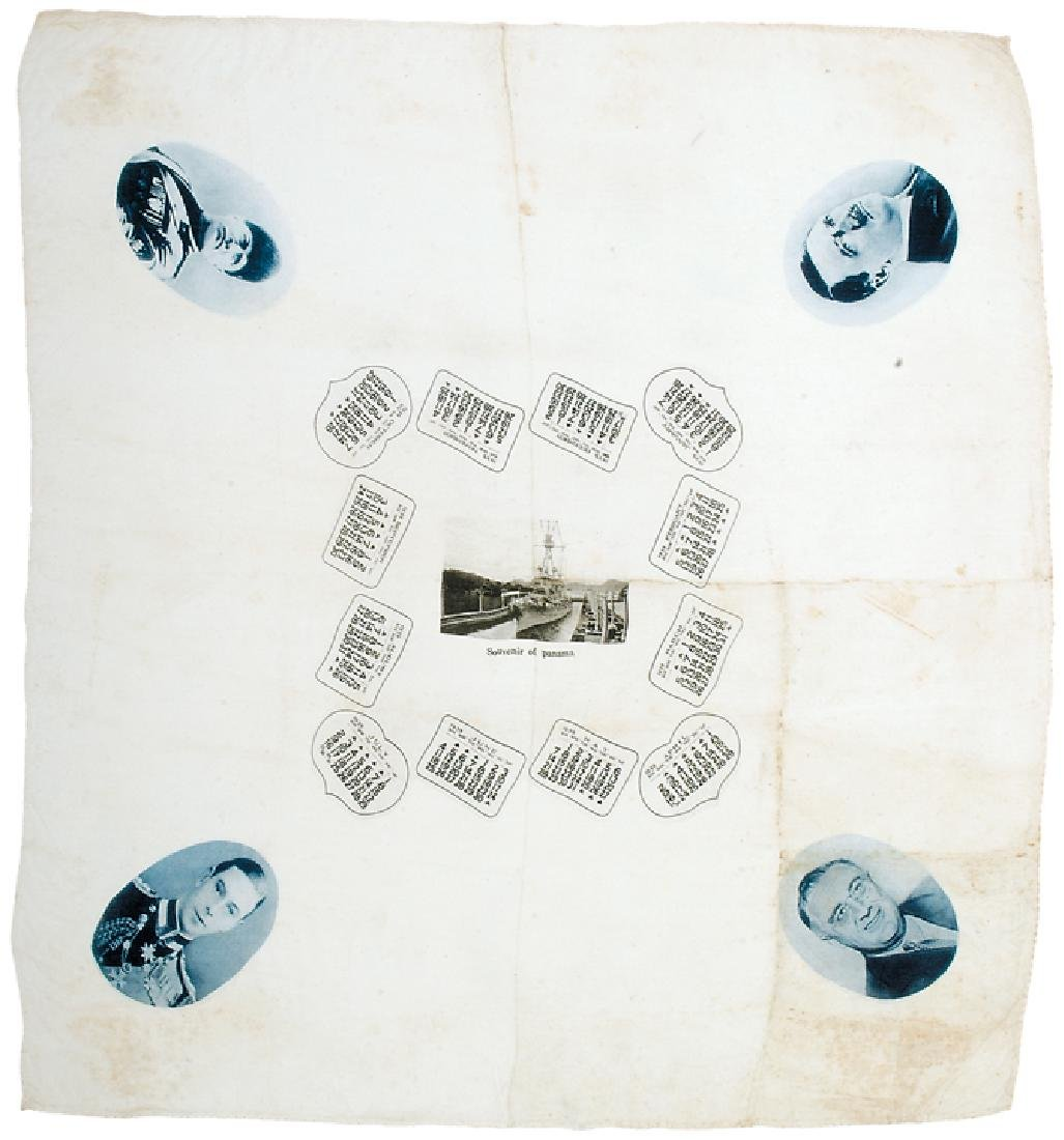 1939 Kerchief With Portraits of Political Leaders