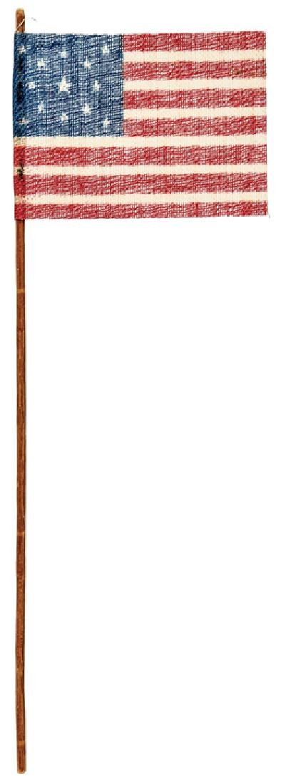 1876 13-Star Great Star US Parade Flag With Pole