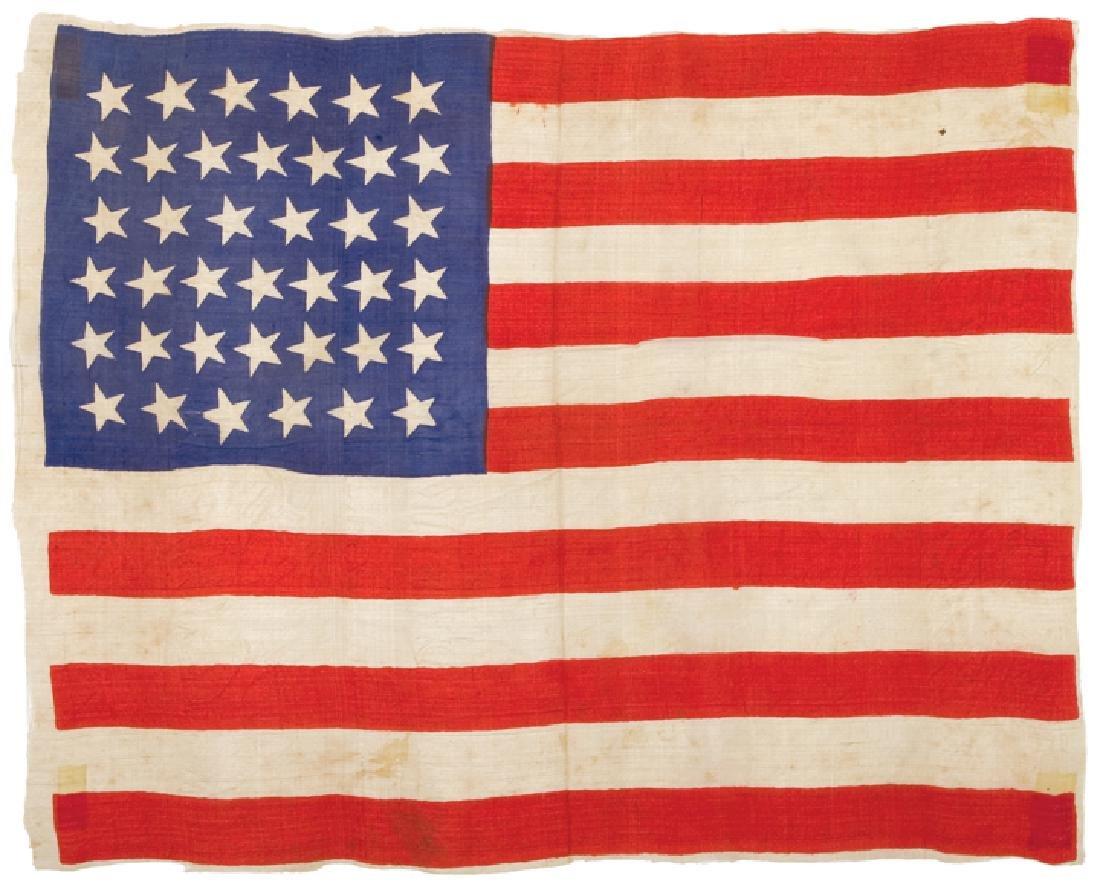 c 1875 39-Star Unofficial Dakotas American Flag