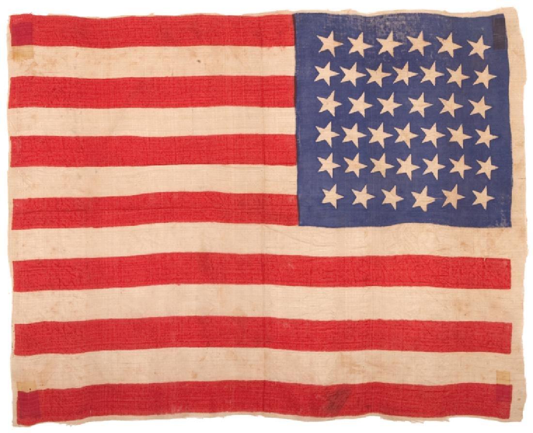 c 1875 39-Star Unofficial Dakotas American Flag - 2