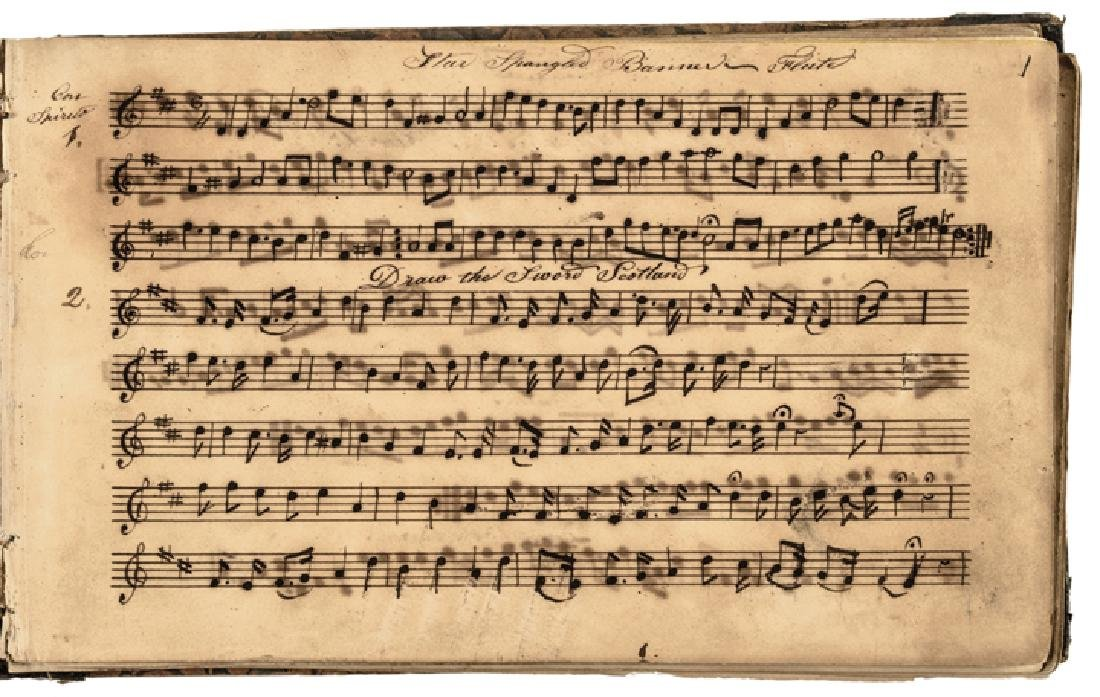 c. 1820-40s Handscored American Patriotic Music