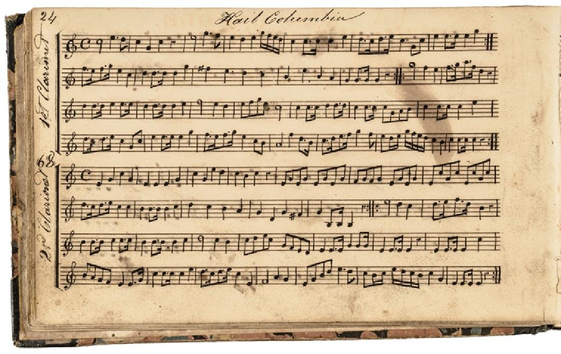 c. 1820-40s Handscored American Patriotic Music - 2