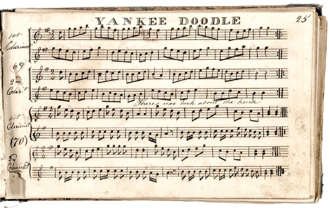 c. 1820-40s Handscored American Patriotic Music - 3