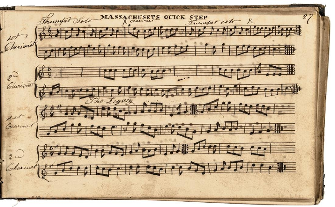 c. 1820-40s Handscored American Patriotic Music - 5
