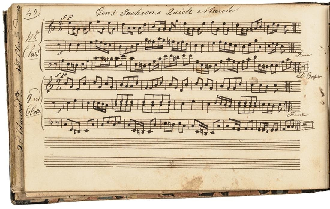 c. 1820-40s Handscored American Patriotic Music - 6