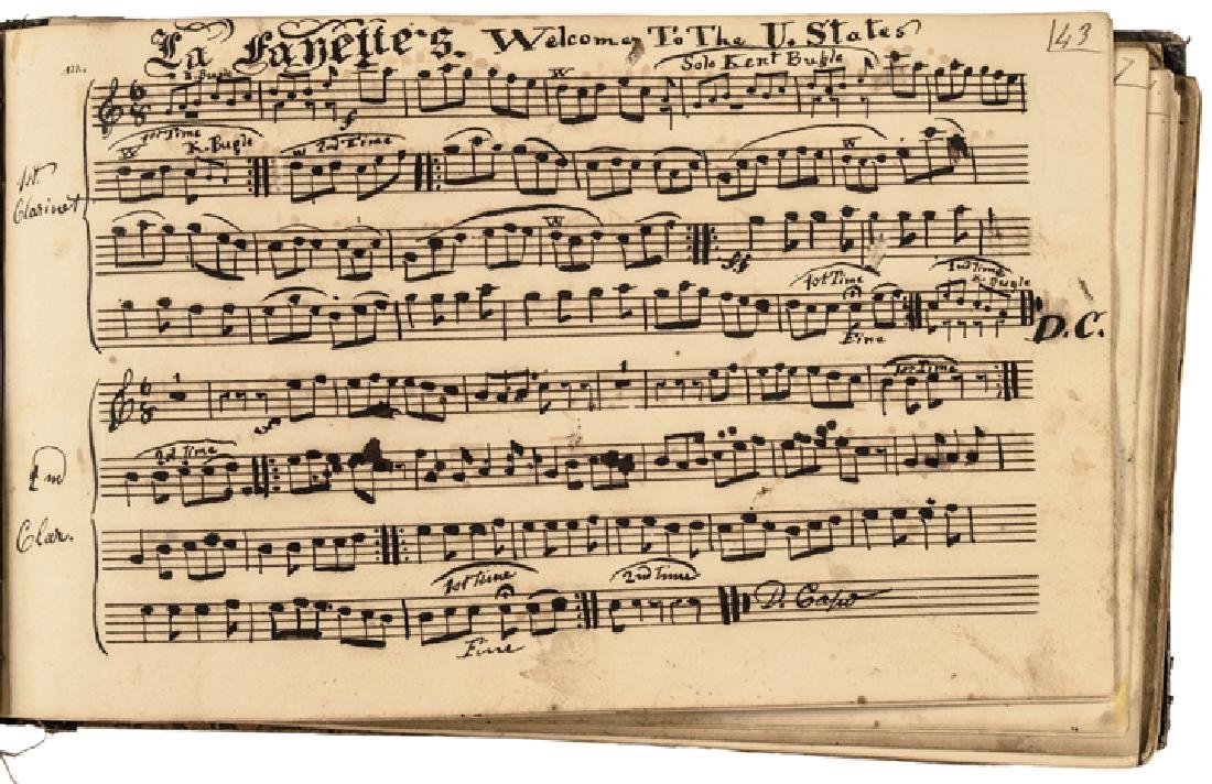 c. 1820-40s Handscored American Patriotic Music - 7