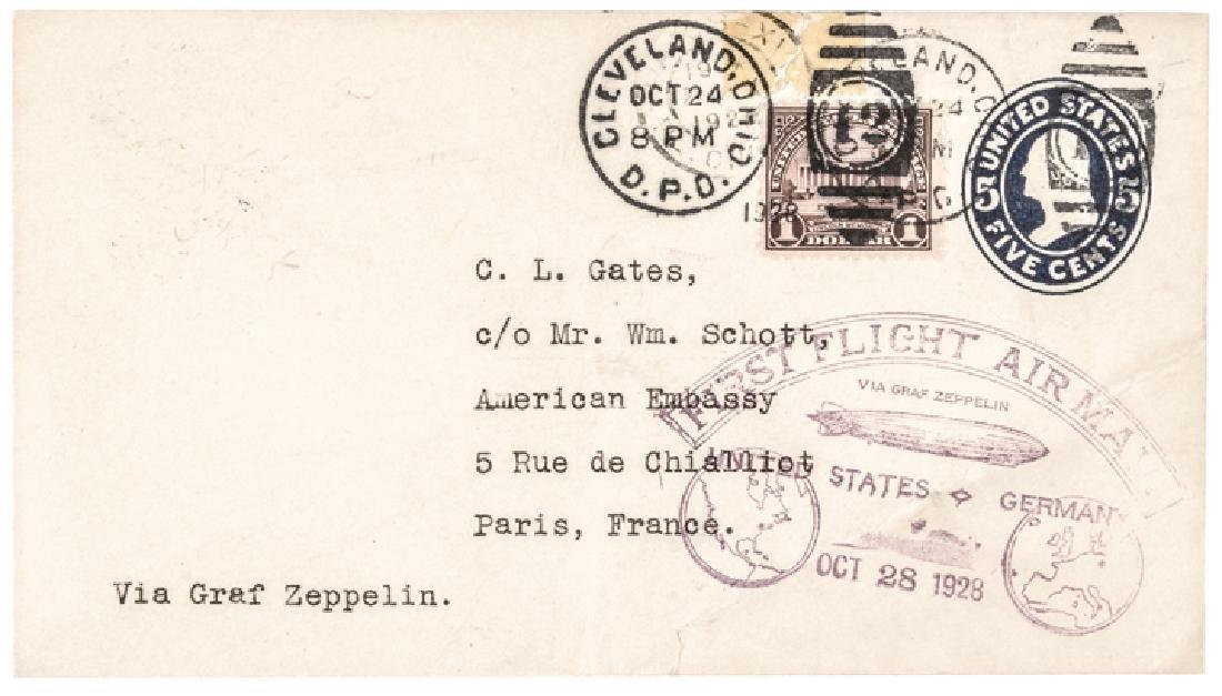 1928 First Flight Airmail Via Graf Zeppelin Cover
