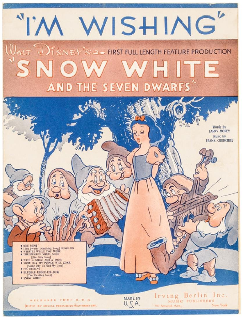 1937 Disney Snow White + The 7 Dwarfs Sheet Music - 4