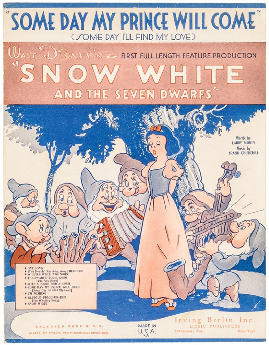 1937 Disney Snow White + The 7 Dwarfs Sheet Music - 5