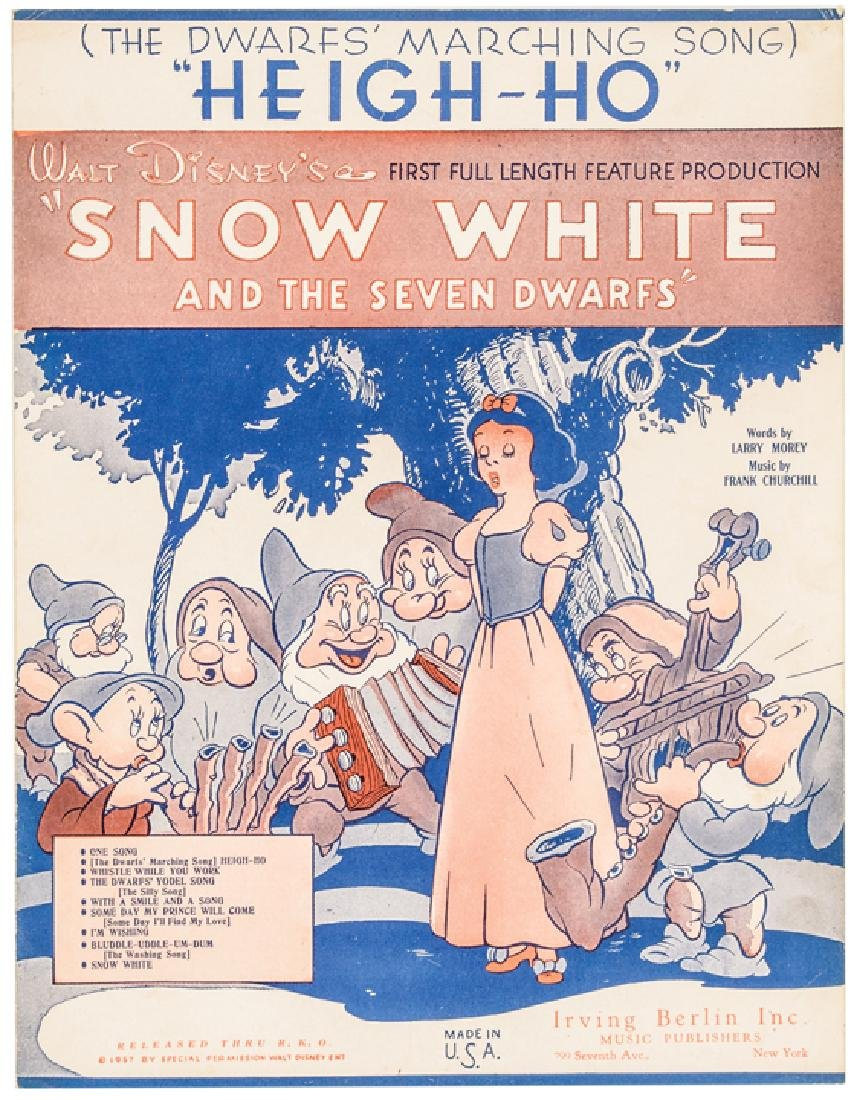 1937 Disney Snow White + The 7 Dwarfs Sheet Music - 6