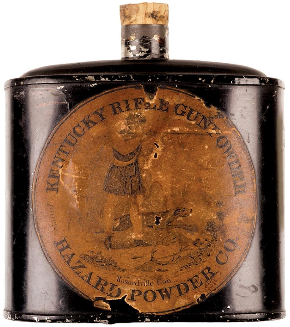 c. 1850s KENTUCKY RIFLE GUNPOWDER Can