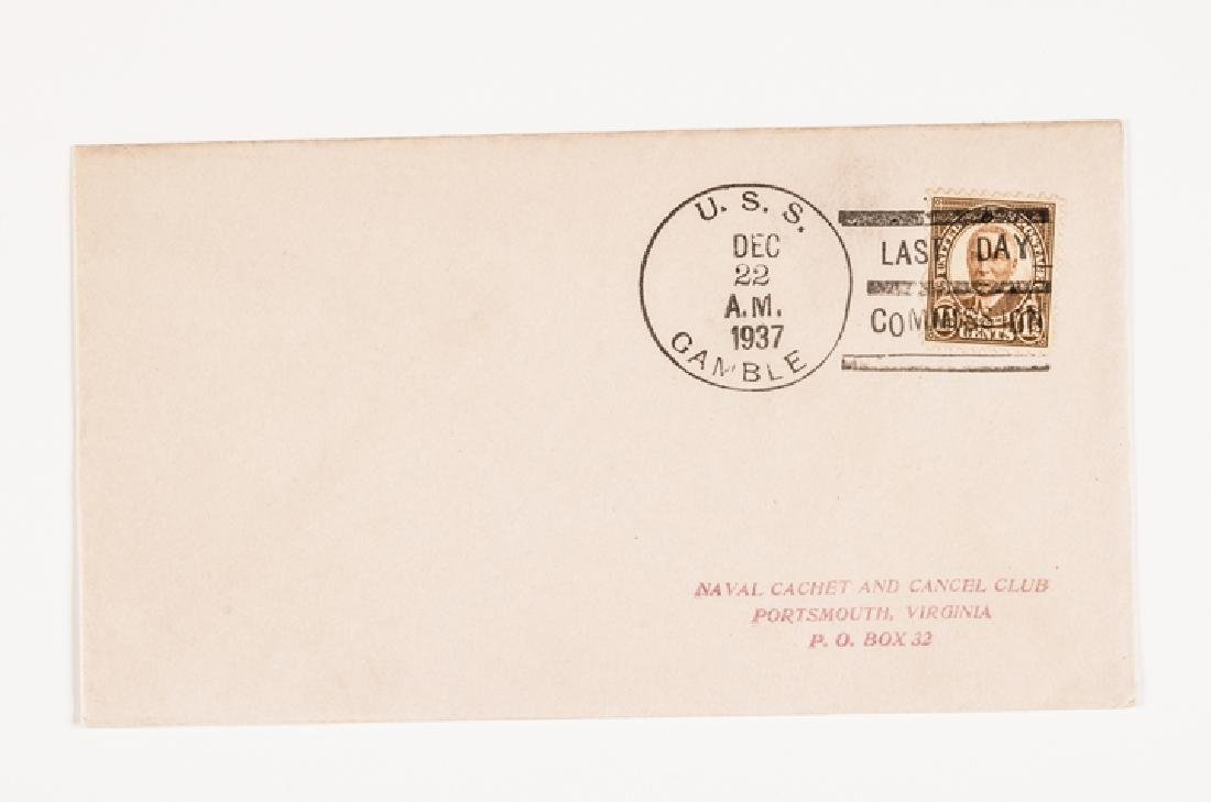 WWII 50 US Navy Postal Covers Onboard a Ship Sunk - 10