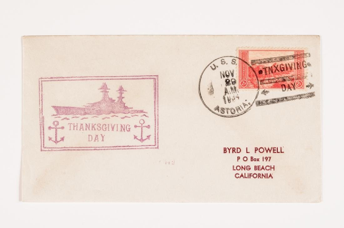 WWII 50 US Navy Postal Covers Onboard a Ship Sunk - 2