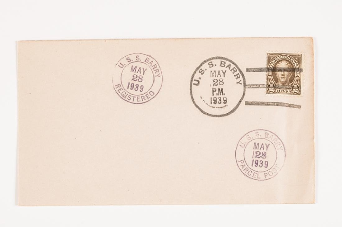 WWII 50 US Navy Postal Covers Onboard a Ship Sunk - 3