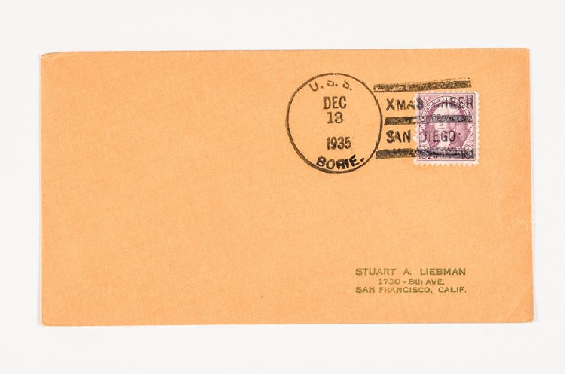 WWII 50 US Navy Postal Covers Onboard a Ship Sunk - 5