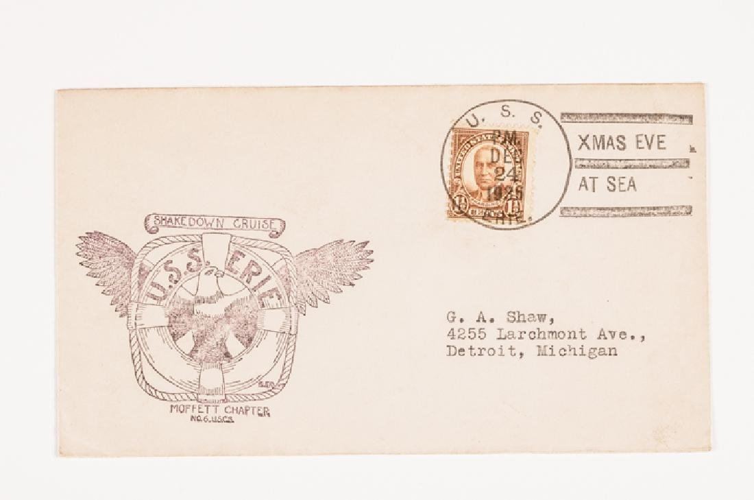 WWII 50 US Navy Postal Covers Onboard a Ship Sunk - 9