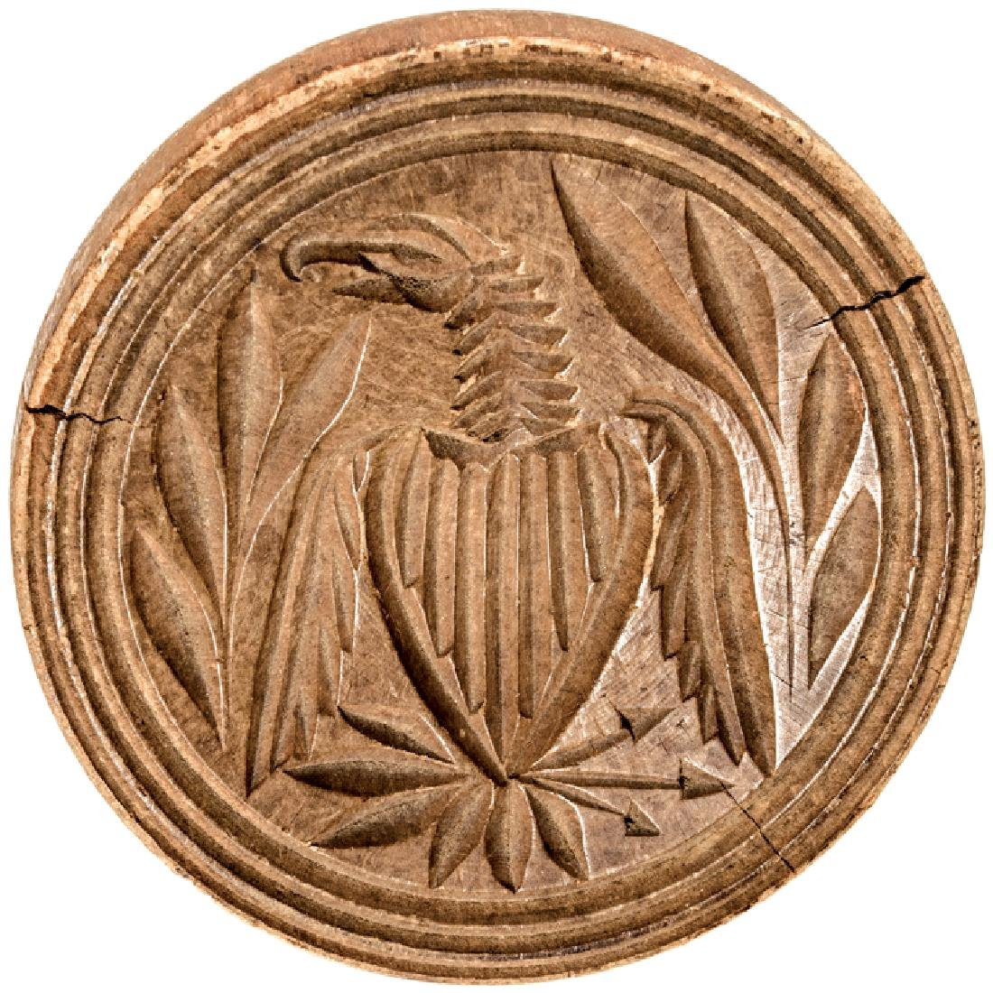 Early American Heraldic Eagle Butter Print Mold - 2