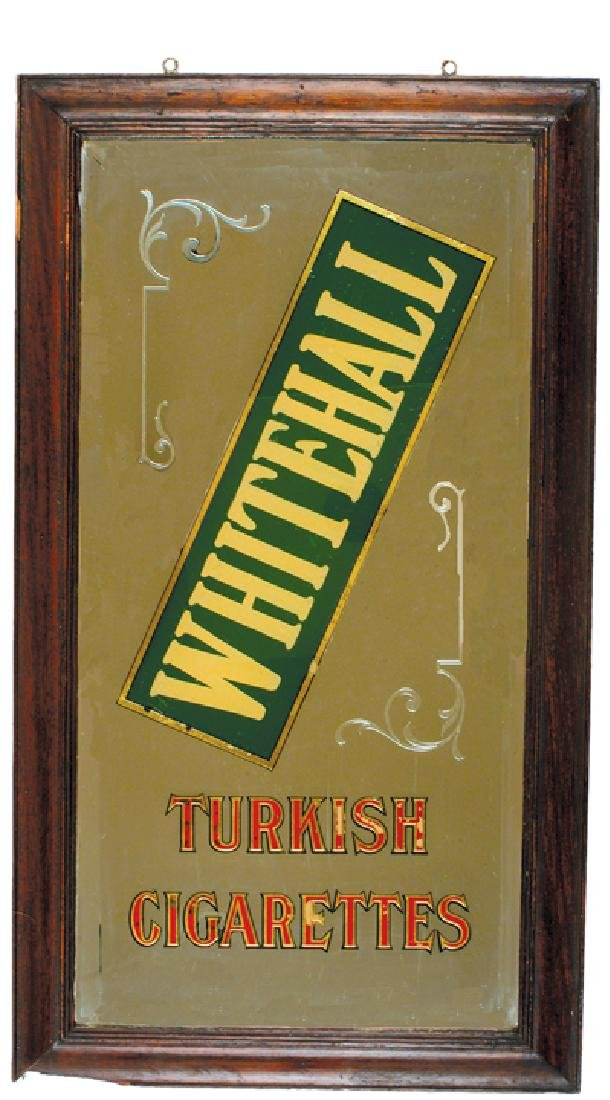 1880s WHITEHALL TURKISH CIGARETTES Advert. Mirror