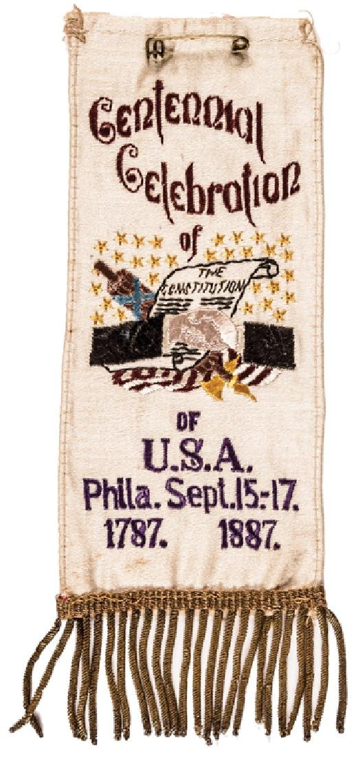 1800s Six Commemorative Silk Ribbons Collection - 3