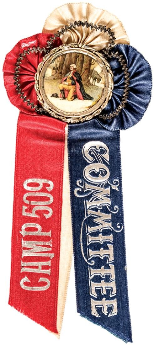 1800s Six Commemorative Silk Ribbons Collection - 6