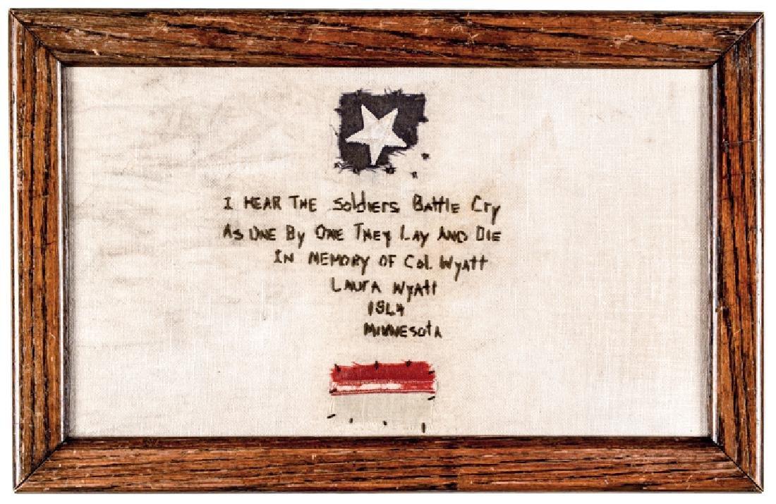 1844-Dated Memorial Tribute Needlework Sampler