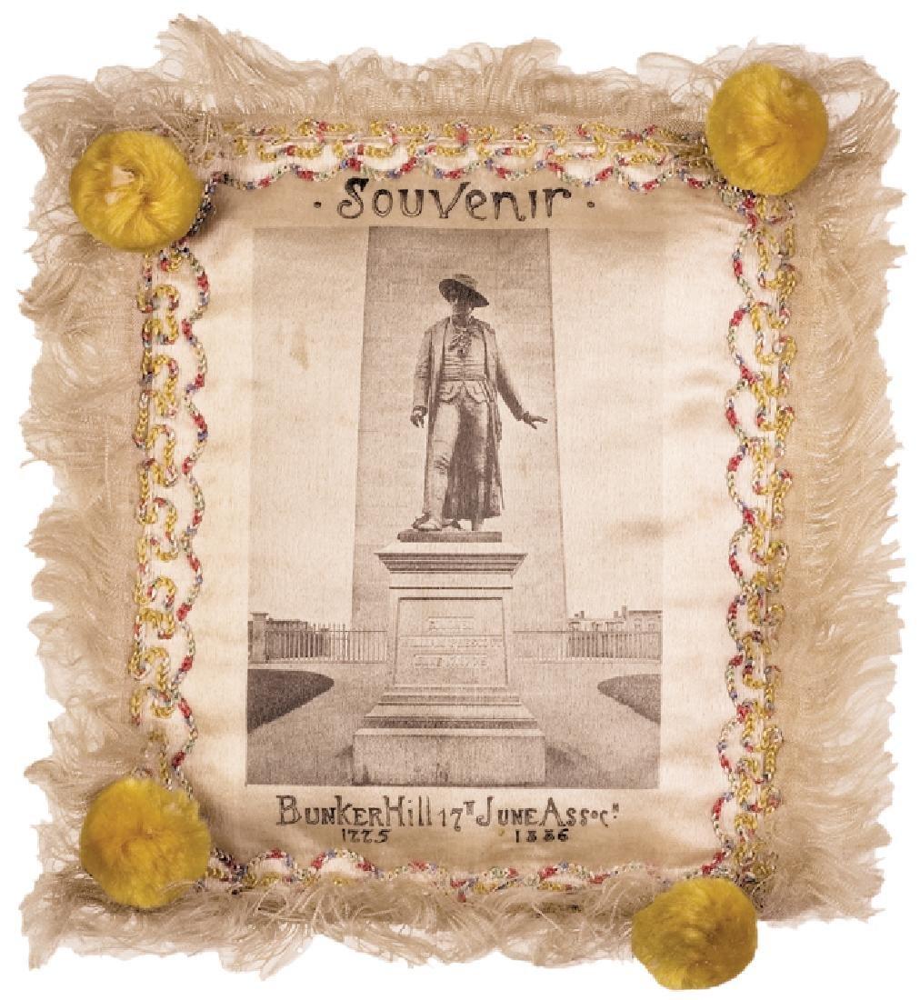 1886 Battle Of Bunker Hill Souvenir Silk Pillow