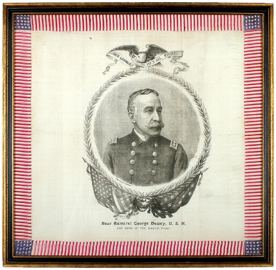 c. 1898 George Dewey Patriotic Printed Textile