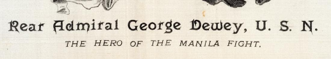 c. 1898 George Dewey Patriotic Printed Textile - 2