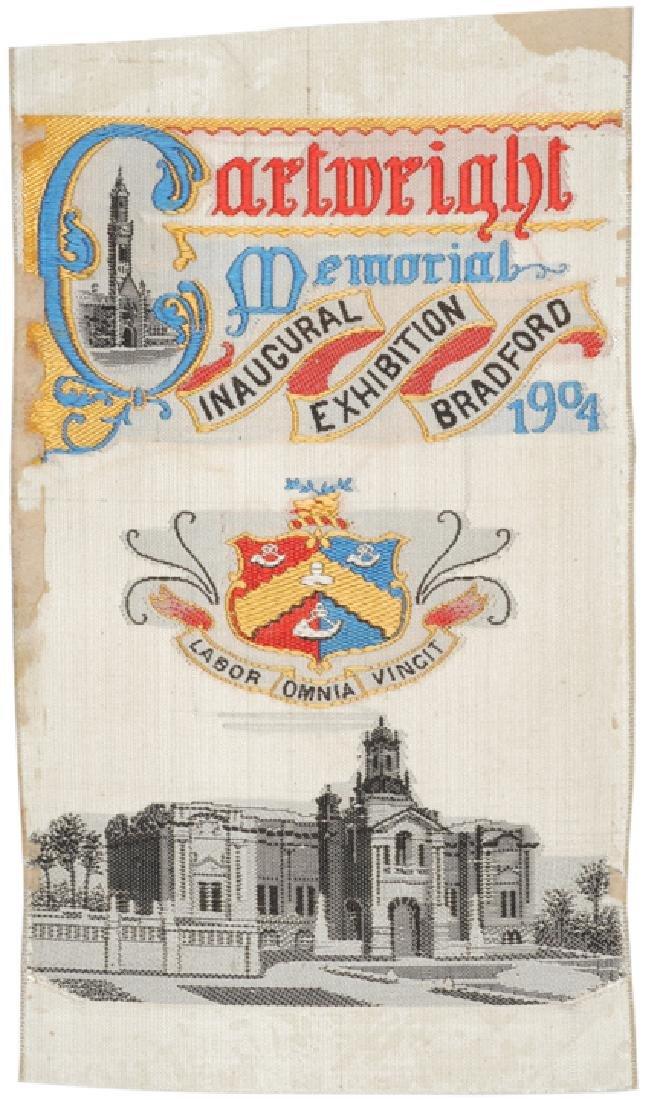 1904 Cartwright Memorial BRADFORD EXPOSITION Silk