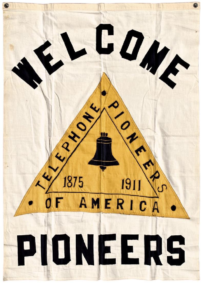 1911 Telephone Pioneers of America Hanging Banner
