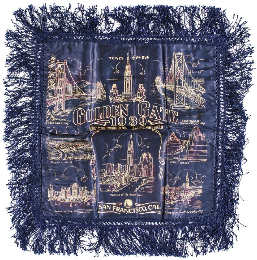 1939 Golden Gate Expo San Francisco Pillow Case
