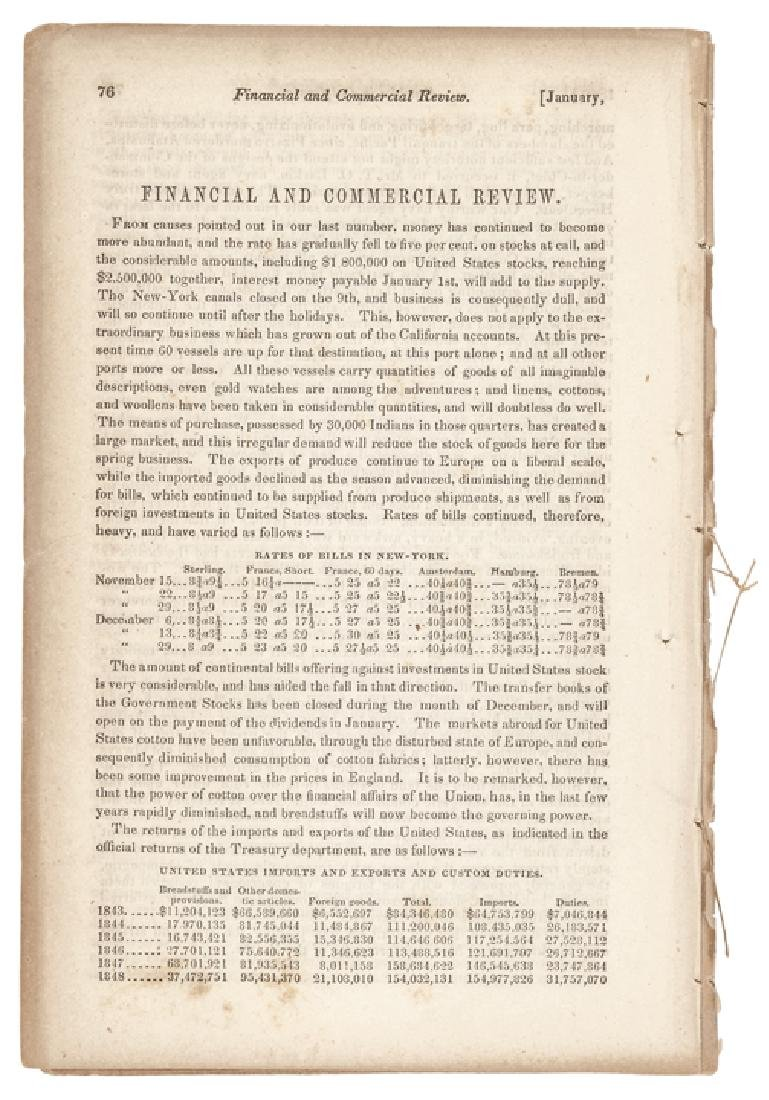 Jan. 1849 Californian Gold Reported To Congress - 2