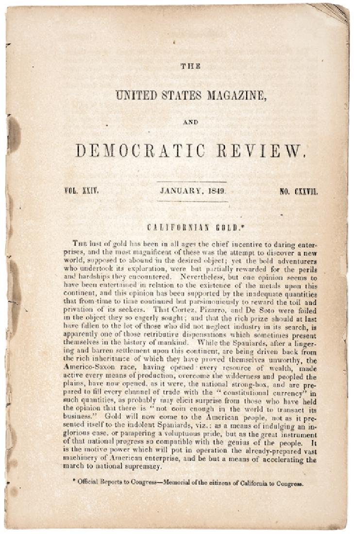 Jan. 1849 Californian Gold Reported To Congress - 3