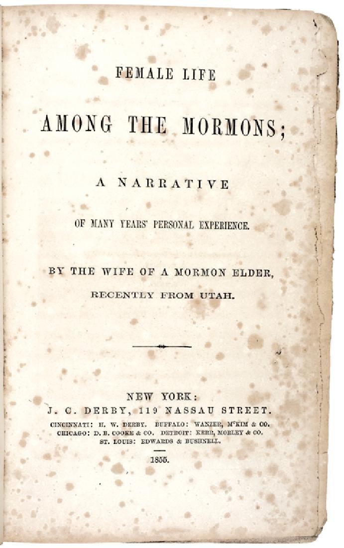 1855 1st Edition: FEMALE LIFE AMONG THE MORMONS.