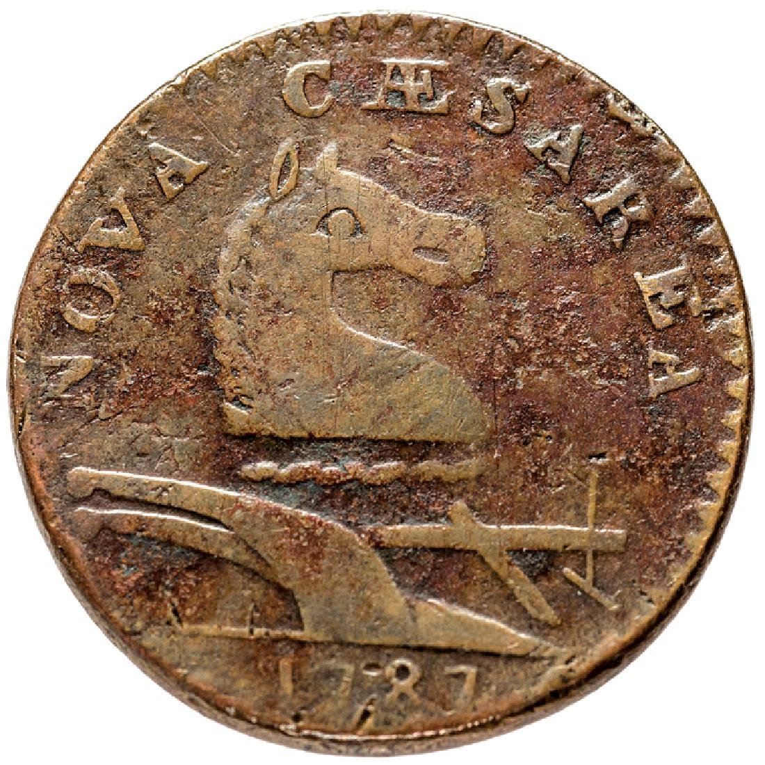 1787 New Jersey Copper Outline Shield Maris 28-L