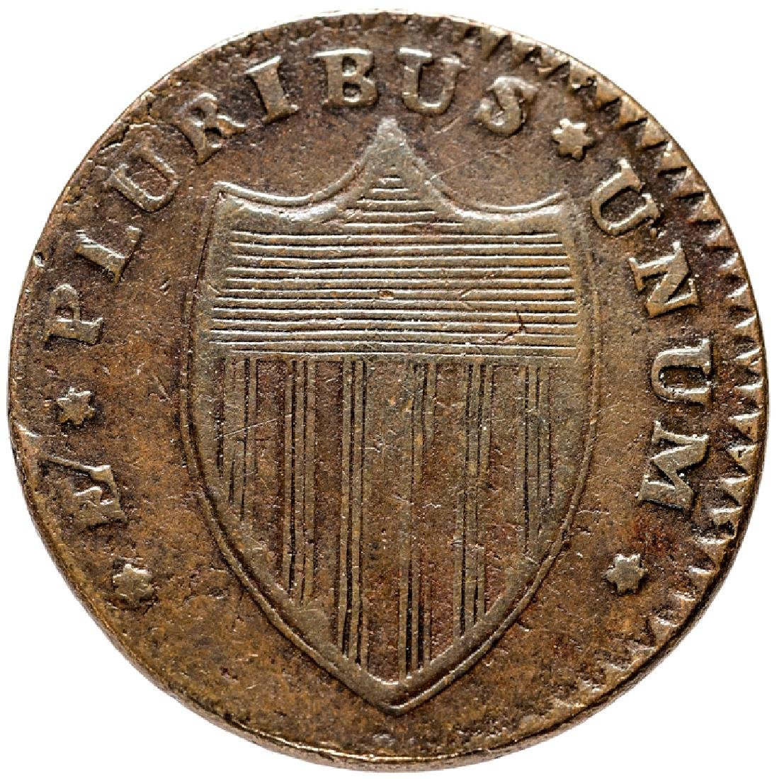 1787 New Jersey Copper Outline Shield Maris 28-L - 2