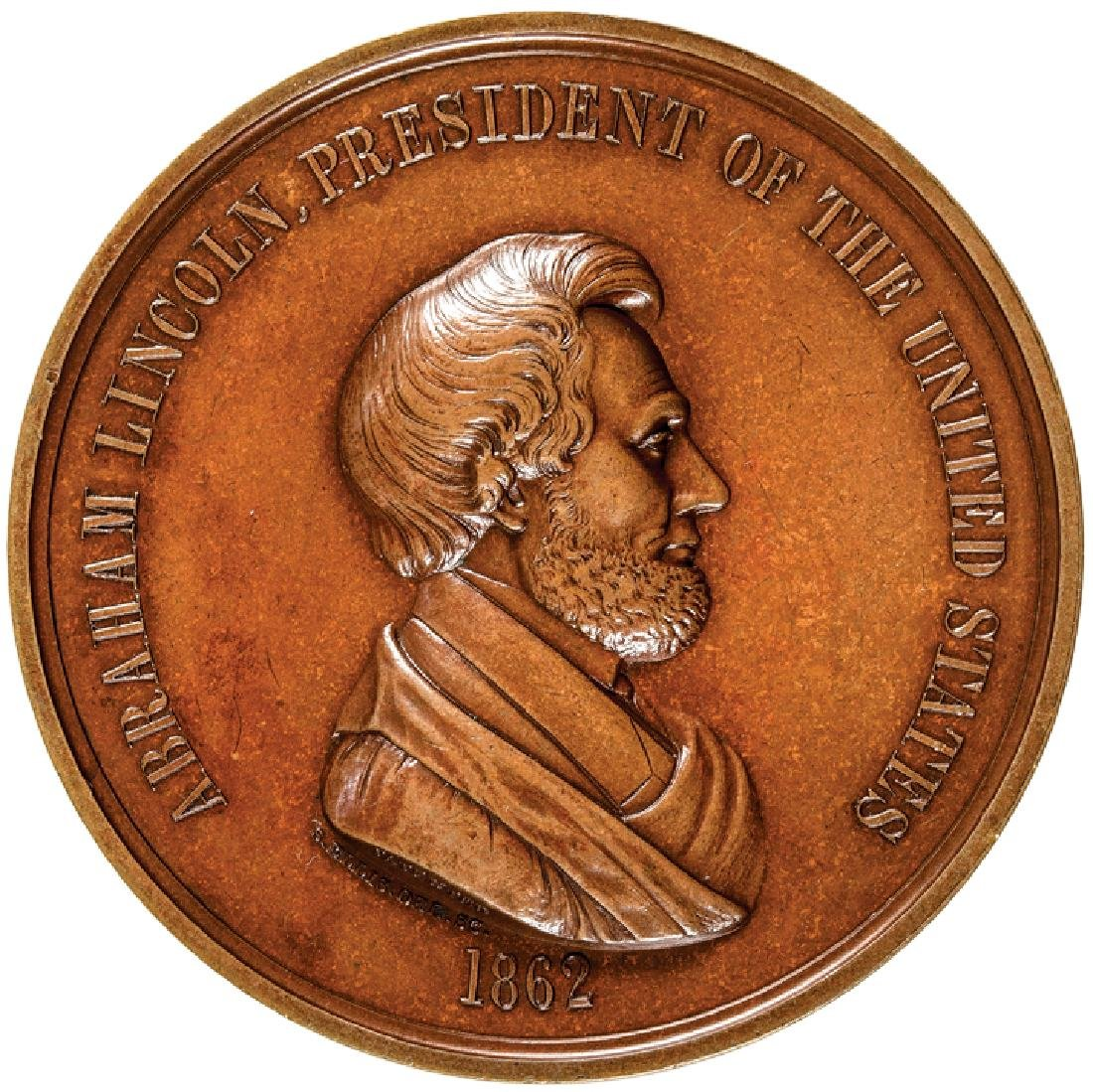 1862 ABRAHAM LINCOLN Indian Peace Medal Ch. Mint