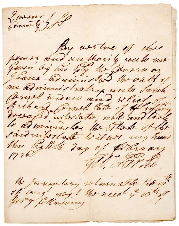 2012: GEORGE CLARKE, Signed Document 1726