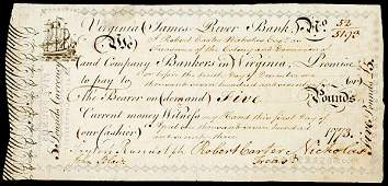 843 Colonial Currency Signer RANDOLPH  BLAIR 1776