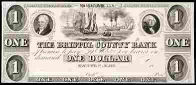 1044: Obsolete Taunton, MA, $1, Haxby MA-1205 G8